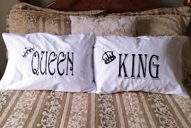 His And Hers Wedding Gifts Couples Gifts King U0026 Queen Pillow Cases His And Hers