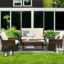halsted wicker patio furniture collection threshold target