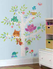 woodland animals wall mural decals baby nursery forest friends