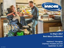 invacare ivc presents at cl king 15th annual best ideas