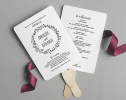 wedding ceremony fans wedding program fan wedding program printable rustic wedding