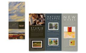 art gallery u0026 artist tri fold brochure template design