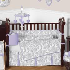 Lavender And Grey Crib Bedding Lavender And Gray Elizabeth Baby Bedding 9pc Crib Set By Sweet