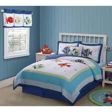 theme comforters bedroom assorted colour sea shell pattern bedcover with blue