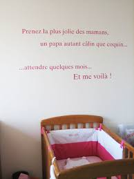 stickers phrase chambre sticker phrase pour chambre de bébé le des editeurs de jolies