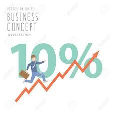 growing chart illustration vector businessman run up stock graph growing chart