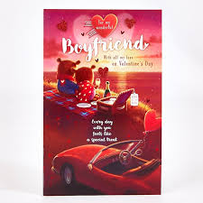 valentines day cards for him s day card boyfriend bears picnic car card factory