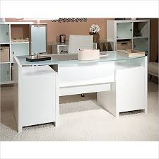 skyline bow front desk in plumeria white bargainmaxx com