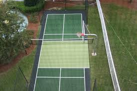 Backyard Tennis Courts Wimbledon In Your Backyard Installing A Synthetic Grass Tennis