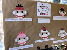 Sock Monkey Favors by Spaghetti Westerner Free Printables Sock Monkey Birthday