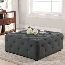 Grey Tufted Ottoman Alluring Gray Tufted Ottoman Interiorvues With Grey Tufted Ottoman