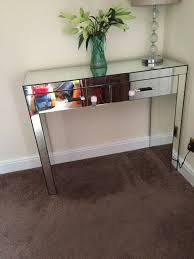 mirrored console vanity table mirrored console table next chene interiors