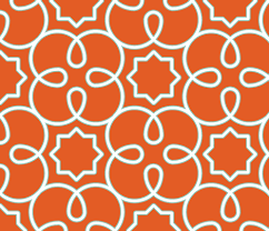 Graphic Upholstery Fabric Geometric Loopy Orange Fabric Anntuck Spoonflower