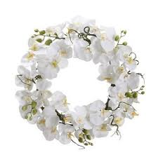 white orchids white orchid wreath