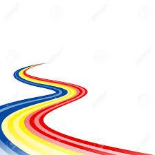 blue and yellow ribbon abstract waving blue yellow ribbon flag royalty free cliparts