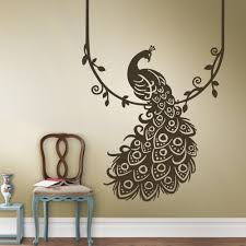 home decor peacock feather wall sticker home decoration of