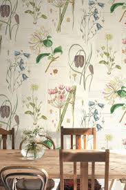 Kitchen Wallpaper by Lovely Botanical Wallpaper Design By The Paper Partnership Casa