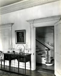 view of staircase from dining room harrietta plantation