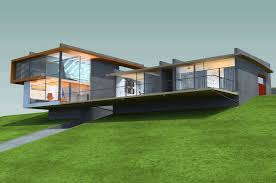 hillside home designs hillside house plans 3d design with field landscape homescorner com