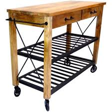 industrial iron wood kitchen trolley natural black buy kitchen industrial iron wood kitchen trolley natural black buy kitchen