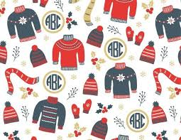 christmas wrap christmas wrapping paper with monogram