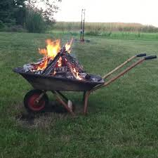 Old Fire Pit - jaimi wants a mobile fire pit old wheelbarrow fire pit