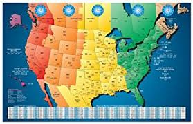 map of area codes amazon com america laminated gloss color zone