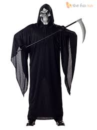 halloween 4 mask ebay plus size grim reaper costume mens deluxe fancy dress skull