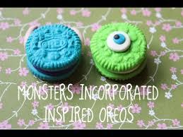 monsters inc inspired oreo tutorial youtube
