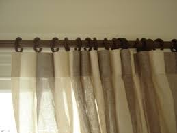 sheer inverted pleat curtains on rod n rings rose to sew