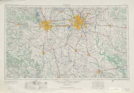 United States Topographical Map by Dallas Topographic Map Sheet United States 1954 Full Size