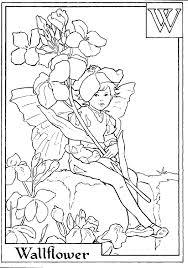 letter wallflower flower fairy coloring alphabet