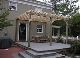 pergola design wonderful pergola off of house single sided