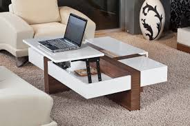 Contemporary White Coffee Table by Coffee Table With Stools Underneath Home Design Ideas