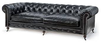 White Leather Tufted Sofa by Ace Industrial Loft Black Leather Tufted Deep Seat Sofa