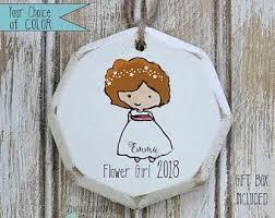 flower girl ornament ornament etsy