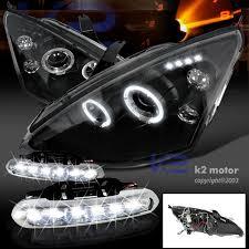 2003 ford focus headlight bulb combo 00 04 ford focus dual halo led black projector headlights