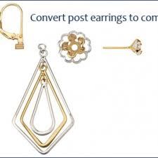 post back earring new lower price 2 pr earring converters ships free earring