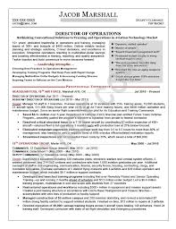 Operations Management Resume Examples Director Resume Writing Sample Mary Elizabeth Bradford The