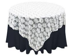 cheap lace overlays tables ya ya 72 x 72 couture blossoms on lace overlay w sequins white overlays