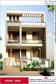 Awesome Modern Indian Home Design Front View Contemporary