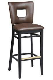 Wooden Bar Stool With Back Regal Seating Series 2426 Wooden Commercial Counter Height Bar