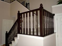 Indoor Balcony by Interior Traditional Wood Block Stair Railing Ideas With Stand