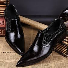 wedding shoes brands men pointed out that toe leather clothes of high quality official