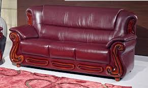 cherry brown leather sofa bella burgundy traditional leather sofa with wood accents