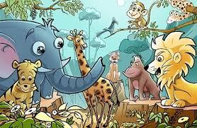 cartoon jungle animals free psd download 131 free psd