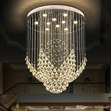 Chandeliers Led Hanging Crystals For Chandelier New Legend Modern Led