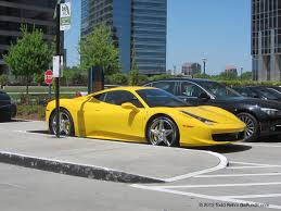 ferrari yellow and black supercar sunday yellow ferrari 458 italia in buckhead georgia