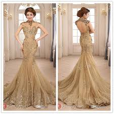 tulle for sale golden lave up open back tulle evening dresses hot sale