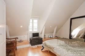 neutral white attic bedroom interior design ideas